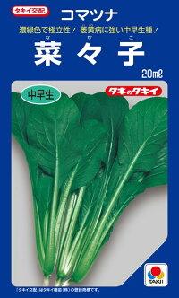 タキイ種苗 コマツナ 小松菜 菜々子 2dl