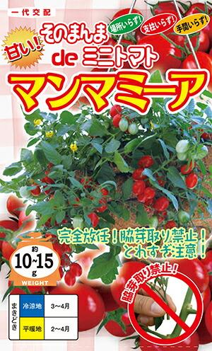 ナント種苗 トマトそのまんまdeミニトマト マンマミーア  500粒