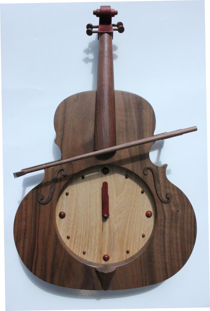 ヴァイオリン時計 ウォールナット【RCP1209mara】10P21Sep12