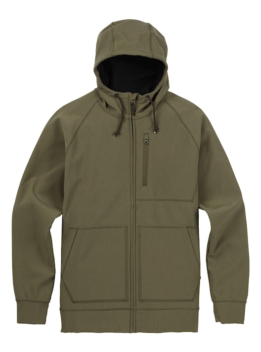 BURTON Bonded Full-Zip Hoodie 2018FW DUSTY OLIVE HEATHER