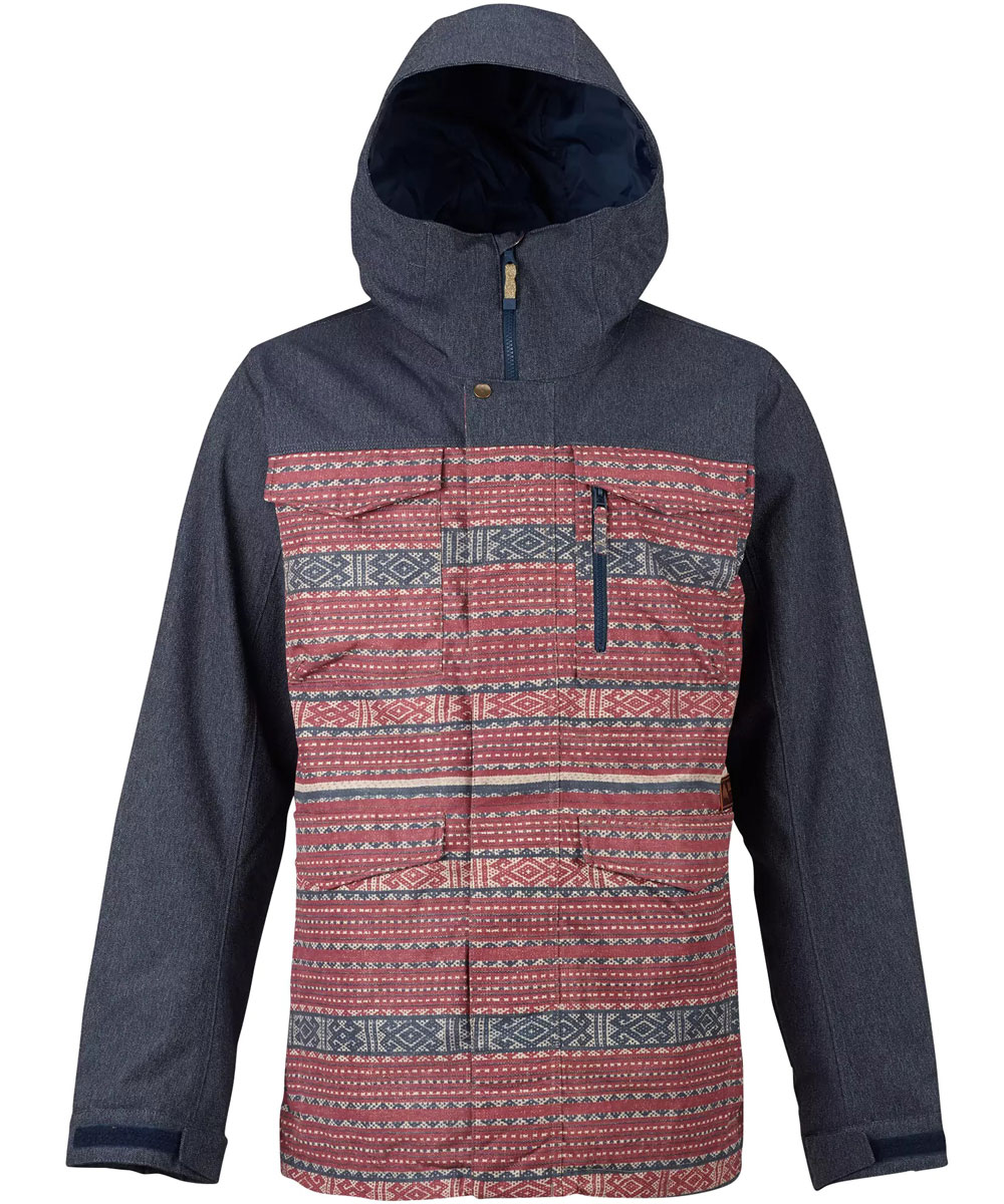 BURTON MNS Covert Jacket 2018FW Fired Brick Tanimbar / Denim