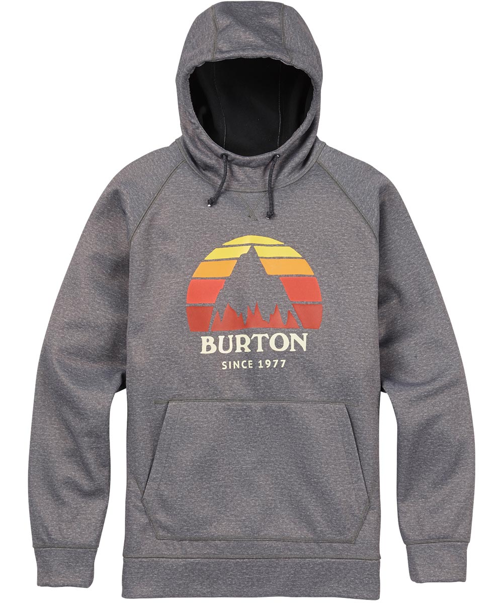 BURTON MB Crown Bonded Pullover 【USサイズ】2018FW Monument Heather