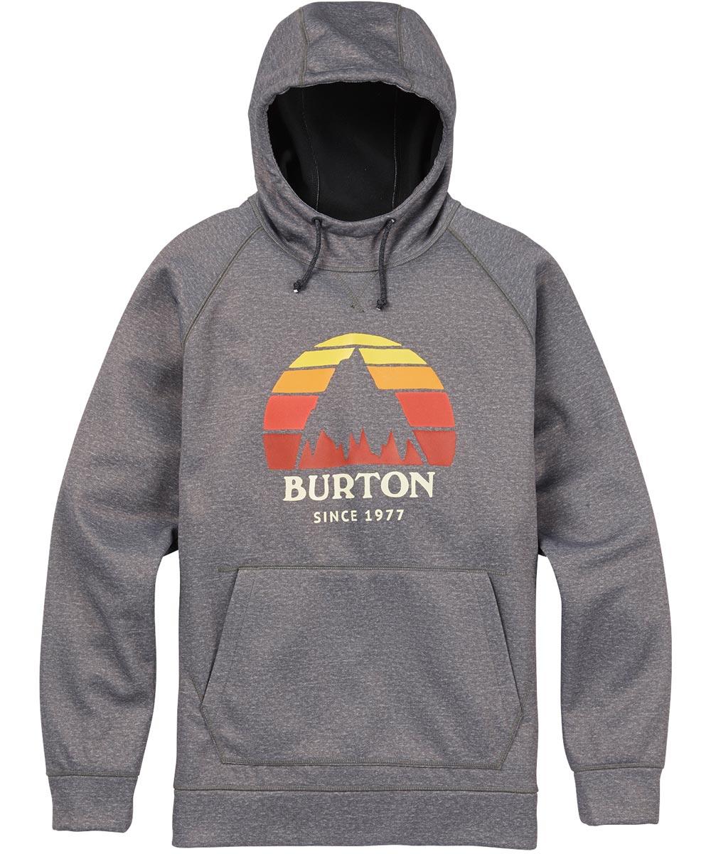 BURTON MB Crown Bonded Pullover 【USサイズ】2018FW Monument Heather