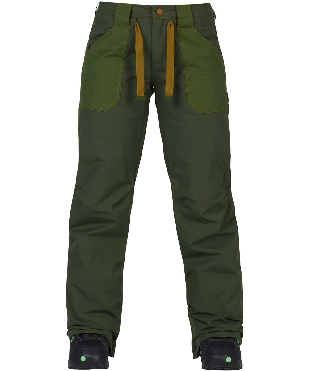 BURTON Women's Veazie Pant 2018FW Forest Night / Rifle Green