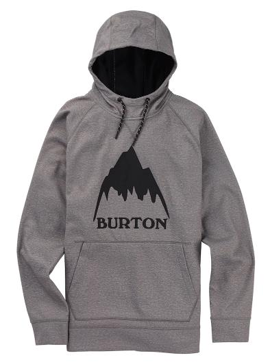 BURTON Men's Burton Crown Bonded Pullover Hoodie GRAY HEATHER2019SSモデル【正規品】