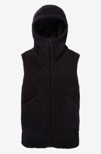 BURTON 2020-21秋冬 ウィメンズフリースベスト【30%OFF】【正規品】W MINXY FLC VEST Women's Burton Minxy Fleece Vest True Black Sherpa  21FW