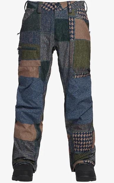 Men's Burton Southside Pant - Regular Fit 2019FW Patchwork Yardage / Mood Indigo Twill