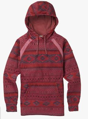 Women's Burton Crown Bonded Pullover Hoodie 2019FW Port Royal Freya Weave