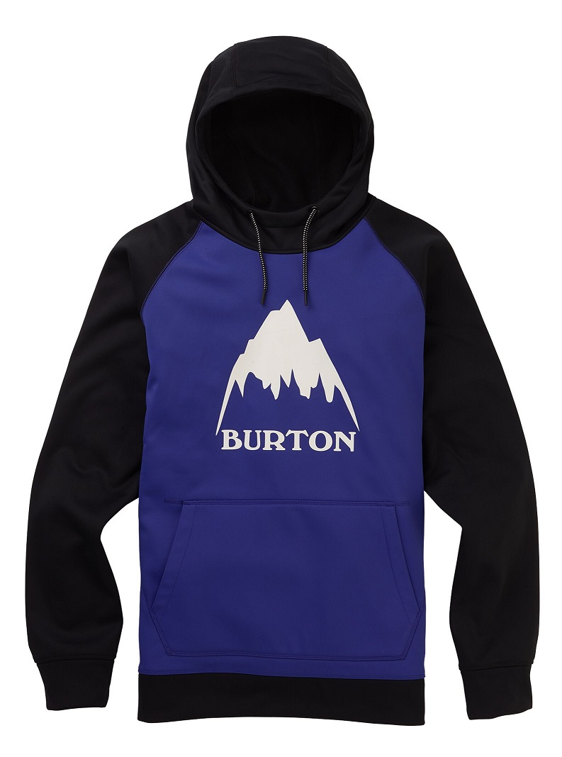 Men's Burton Crown Bonded Pullover Hoodie 2020FW Royal Blue / True Black