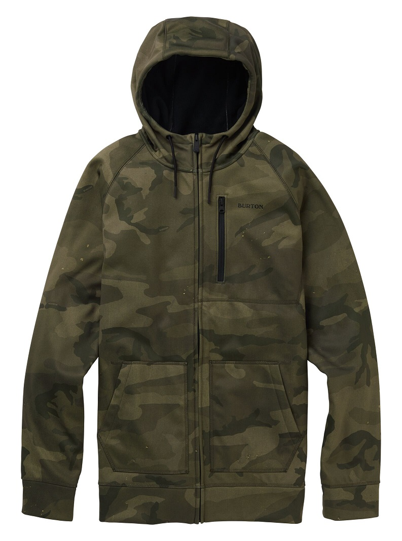Men's Burton Crown Bonded Full-Zip Hoodie 2020FW Worn Camo