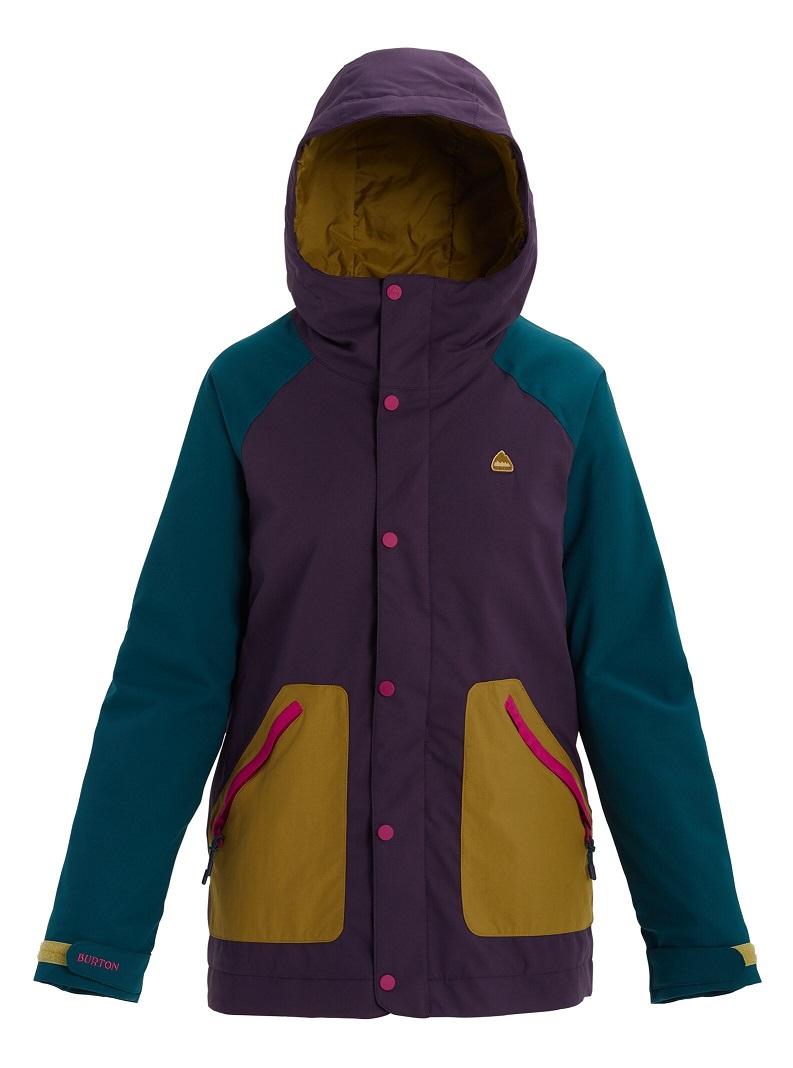 Women's Burton Eastfall Jacket 2020FW Purple Velvet / Deep Teal / Evilo / Fuchsia M
