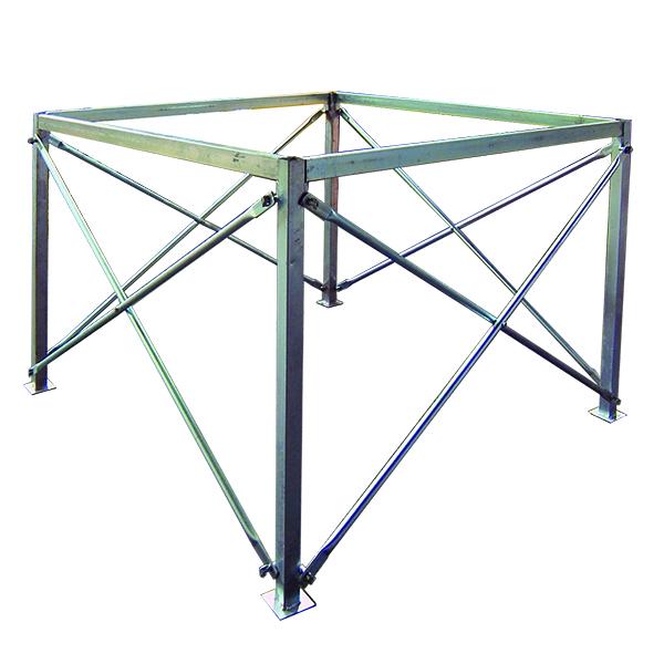コンテナバッグ スタンド 差しこみ式角型 3m3バッグ対応 FK-3 【 工具不要で組立簡単フレコンバッグスタンド 】