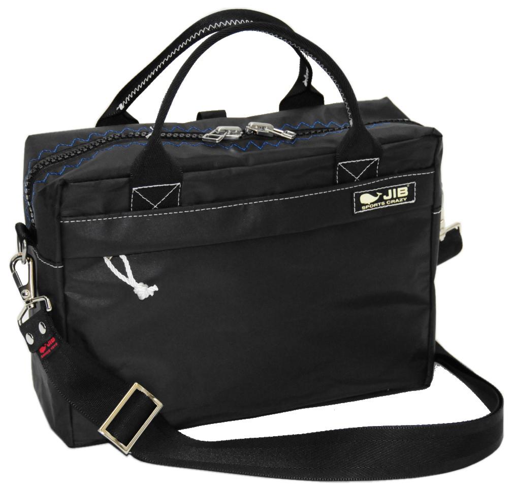 JIB キャリングバッグS CABS158 ブラック×ブルーステッチ(ブラックスナップ)29.5×21×9cm