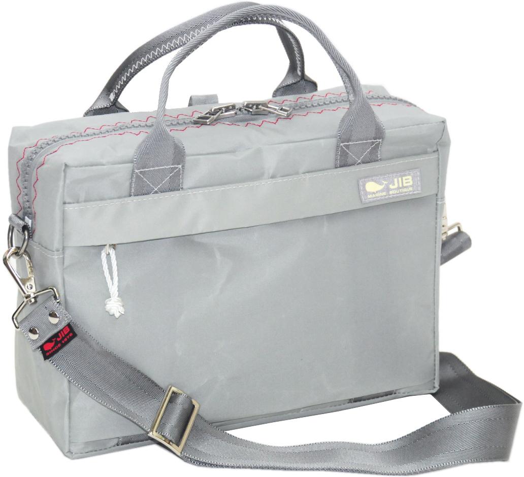JIB キャリングバッグS CABS158 グレー×レッドステッチ(グレースナップ)29.5×21×9cm