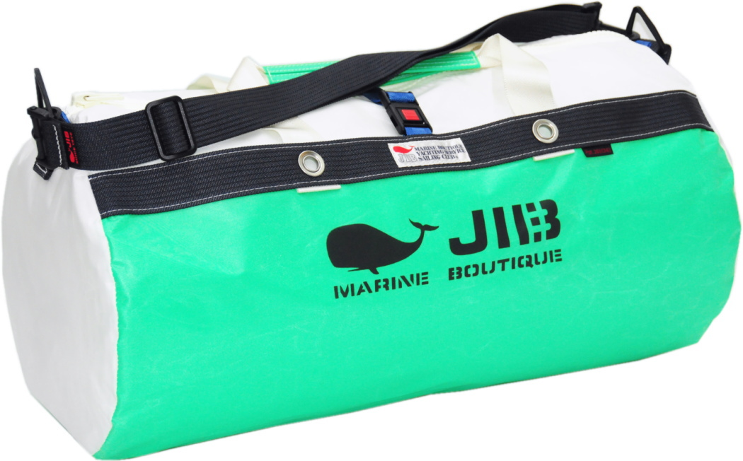 JIB ダッフルバッグM DM170エメラルドグリーン×チャコールグレー 57×φ29cm 約37L