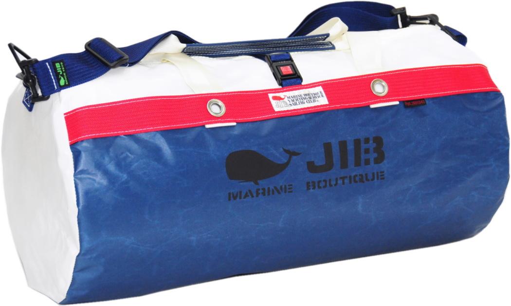 JIB ダッフルバッグM DM170 ネイビー×レッド 57×φ29cm 約37L