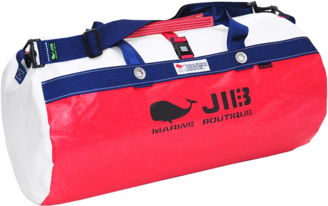 JIB ダッフルバッグM DM170 レッド×ネイビー 57×φ29cm 約37L