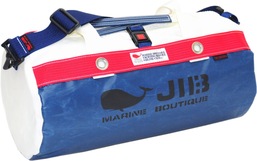 JIB ダッフルバッグS DS130 ネイビー×レッド42×22cm 約15L