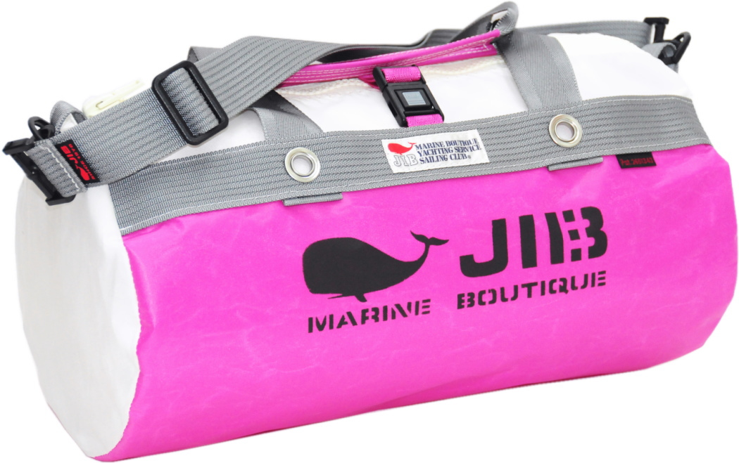 JIB ダッフルバッグS DS130 ピンク×グレー42×22cm 約15L
