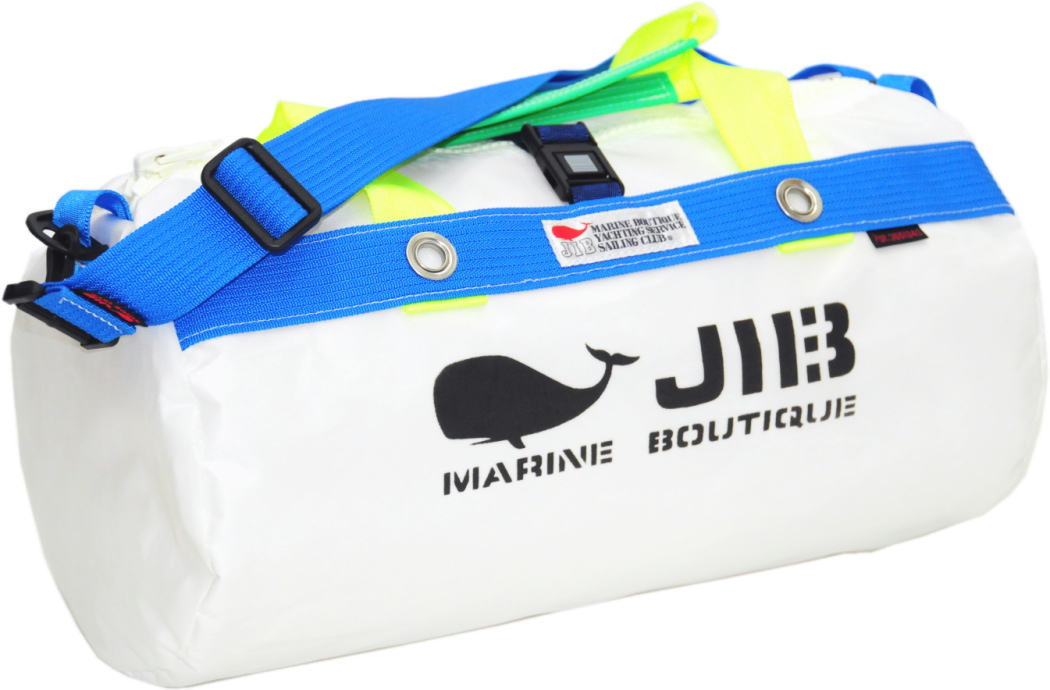 JIB ダッフルバッグS DS130 ホワイト×ブルー42×22cm 約15L