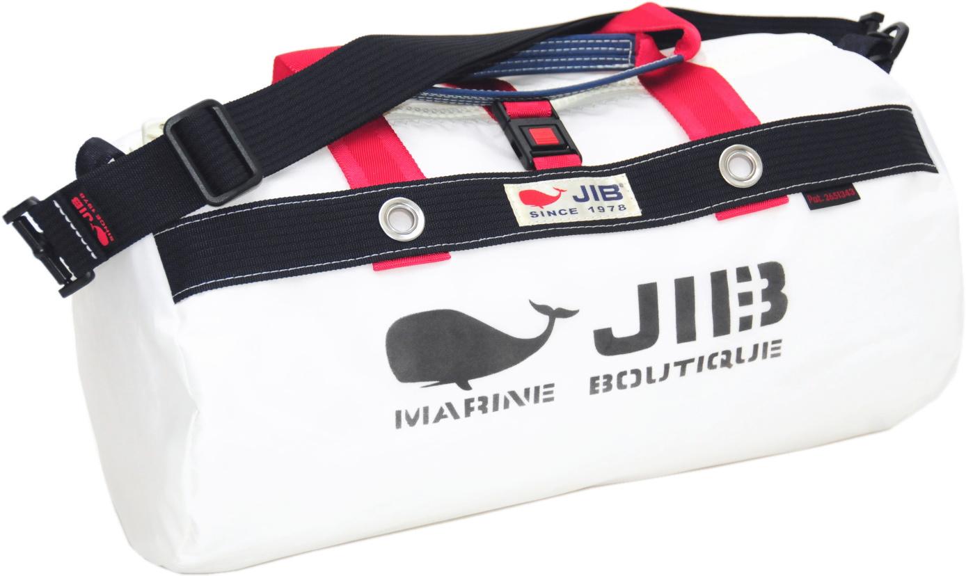 JIB ダッフルバッグS DS130 ホワイト×ダークネイビー42×22cm 約15L