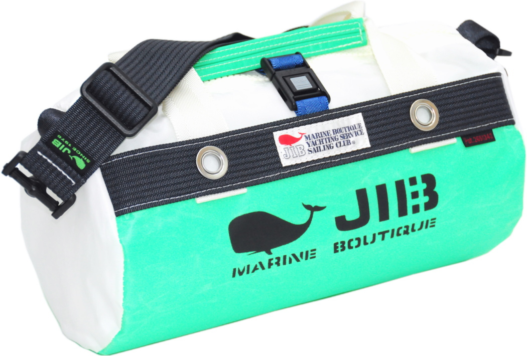 JIB ダッフルバッグSS DSS120 エメラルドグリーン×チャコールグレー W32×φ17cm 約7L