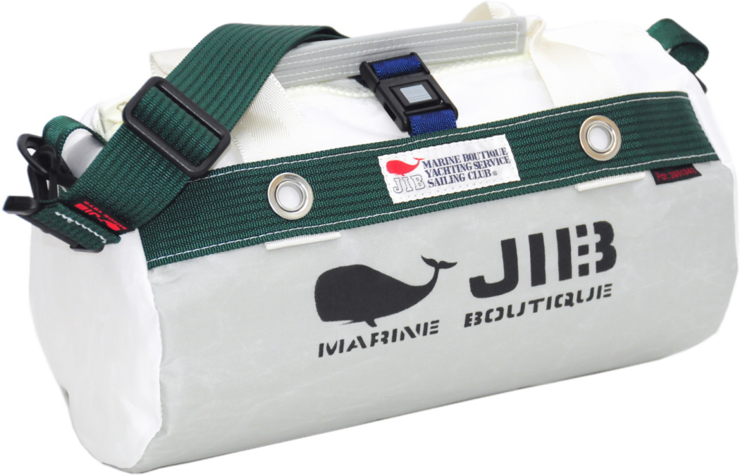 JIB ダッフルバッグSS DSS120グレー×モスグリーン W32×φ17cm 約7L