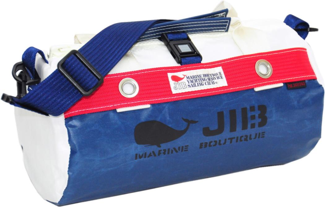 JIB ダッフルバッグSS DSS120 ネイビー×レッド W32×φ17cm 約7L