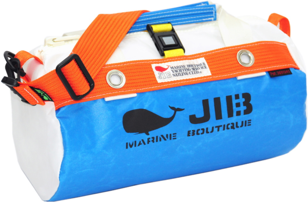 JIB ダッフルバッグSS DSS120ロケットブルー×オレンジ W32×φ17cm 約7L