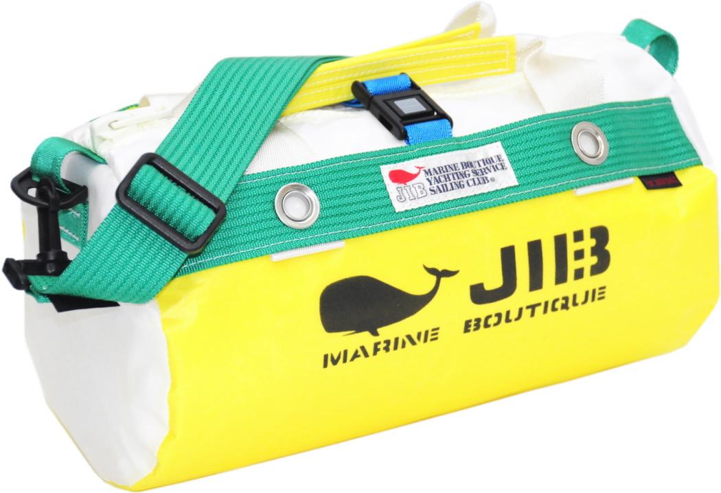 JIB ダッフルバッグSS DSS120 イエロー×グリーン W32×φ17cm 約7L