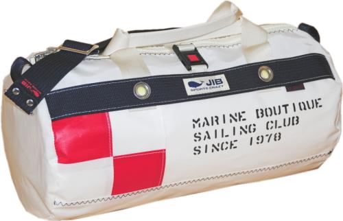 JIB ダッフルバッグS フラッグシリーズ FG-DSB150 U旗 ホワイトバージョン 42×φ22cm 約15L