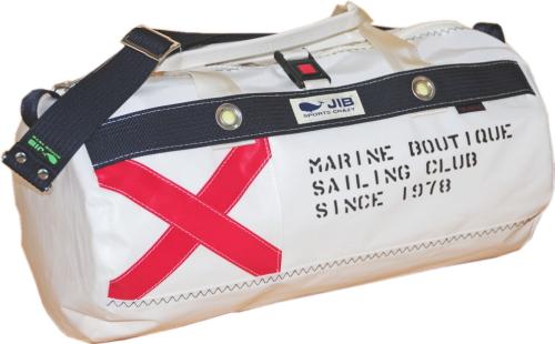 JIB ダッフルバッグS フラッグシリーズ FG-DSB150 V旗 ホワイトバージョン 42×φ22cm 約15L