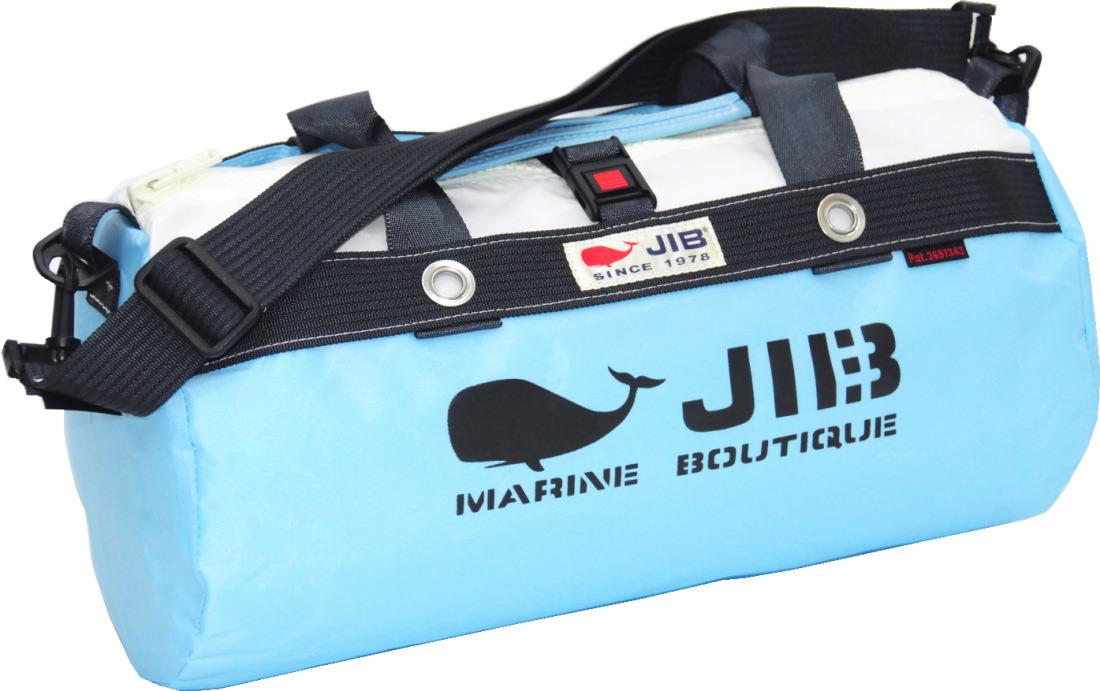 JIB ダッフルバッグS DS130 ミオブルー×チャコールグレー42×22cm 約15L