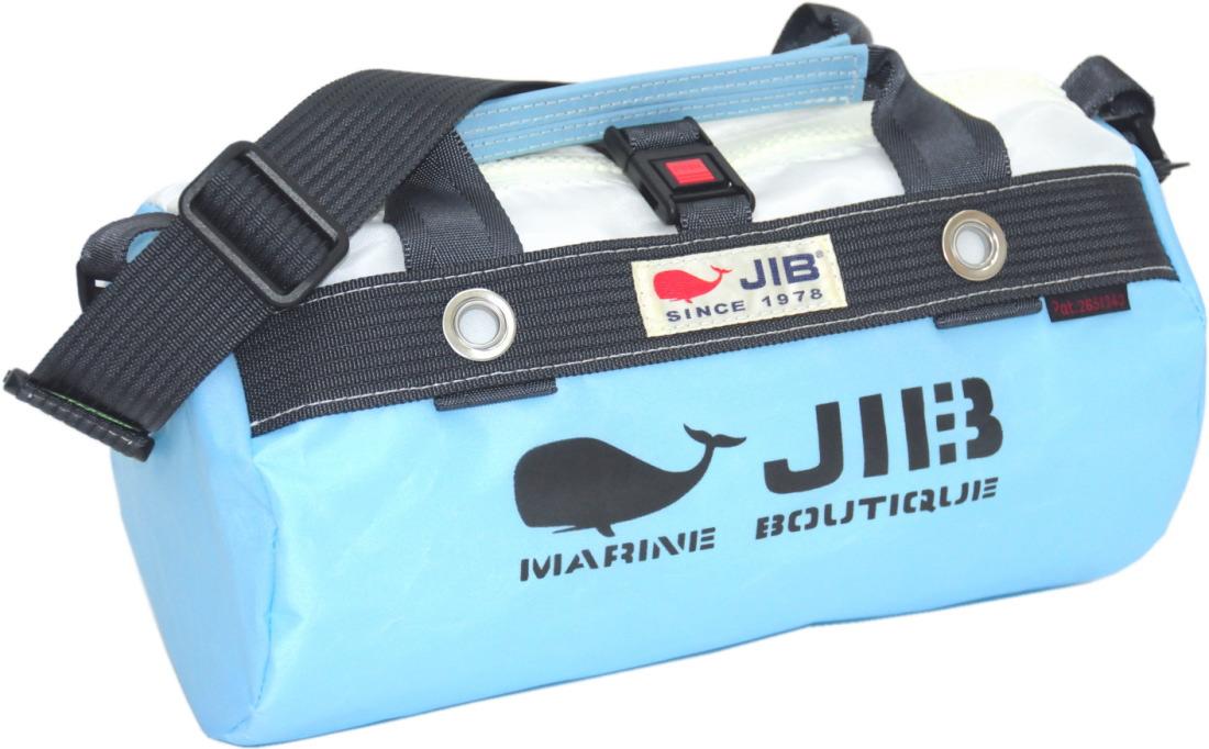 JIB ダッフルバッグSS DSS120 ミオブルー×チャコールグレー W32×φ17cm 約7L