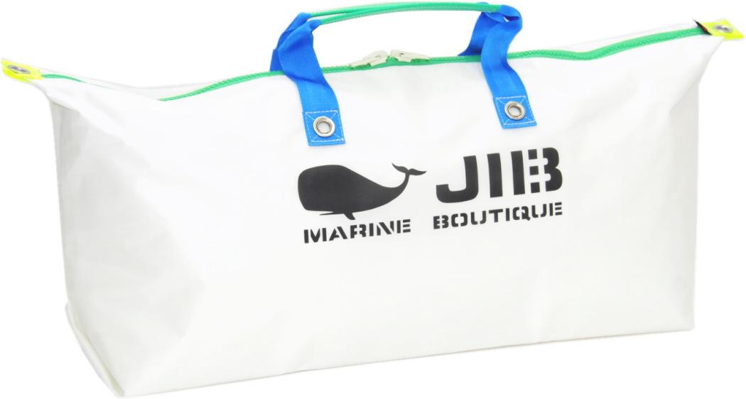 JIB テニスバッグ TN128 ホワイト×ブルーハンドル75×36×18cm3つ仕切りの吊り下げポケット付き