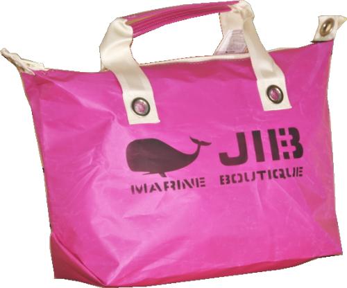 JIB ファスナートートM(オーバーファスナー) FTM78 ピンク×アイボリーハンドル 57×35×18cm 約35L