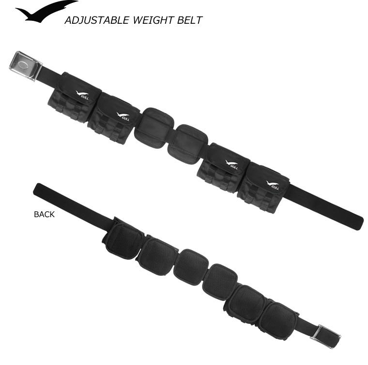 GULL アジャスタブルウエイトベルト GG-4611*ウエストサイズ105cmまで※最大搭載可能重量:8kg