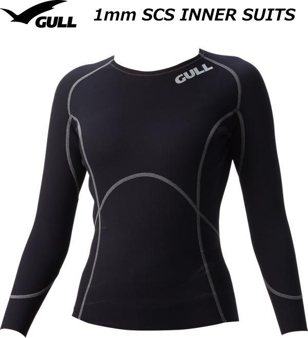 GULL 1mmSCSロングスリーブ ウィメンズ GW-6598 ブラック S-Lサイズ