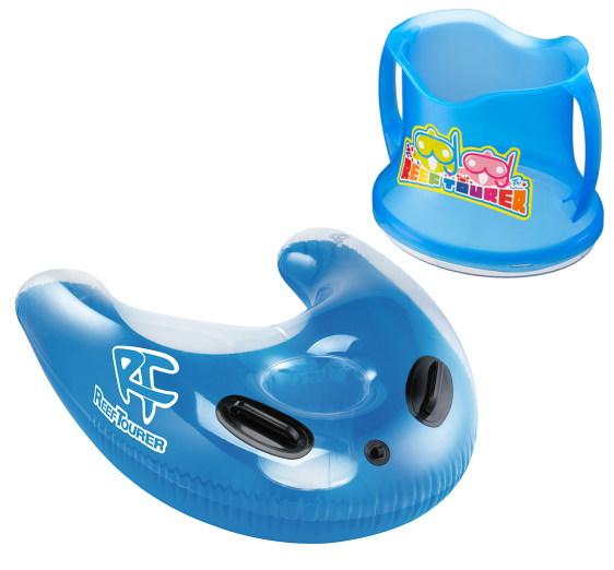 水面で安心 フロート 箱メガネ お中元 子どもから大人まで スノーケリングフロートRA0501+ワイドビュースコープRA0506 リーフツアラー 爆買いセール セット販売 フロートはリバーシブルで使えます