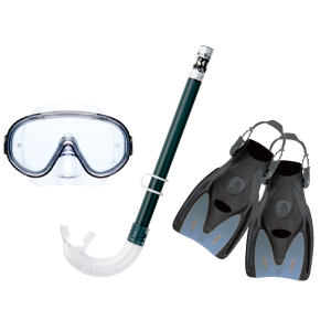 ★ Super bargain! ★ Leafs healer trip for snorkeling 3 point set RP1014Z * mask + snorkel + * carrying case fin! * elastomer * same day shipping or available.