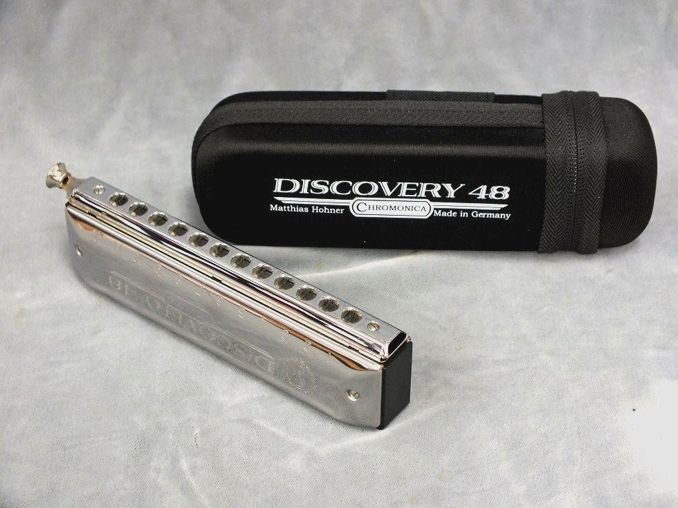 《教則用DVD付き》 HOHNER Discovery-48 (ディスカバリー48) [270DX用マウスピース仕様] 【クロマチックハーモニカ】(当店オリジナル仕様)