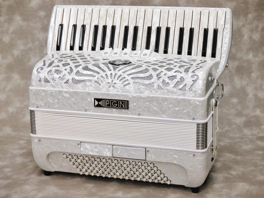 PIGINI Primavera Piano [color: White] 【アコーディオン】