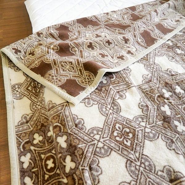 由日本与 woolmark 毯子毛毯单一尺寸米色毛毯 100%(绒毛片) 单 140 x 200