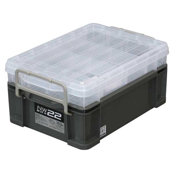 道具箱,工具箱,収納,ツールボックス JEJアステージ NWボックス#22 グレー 【6個入】 (4991068146884) 【個人宅配送不可商品】