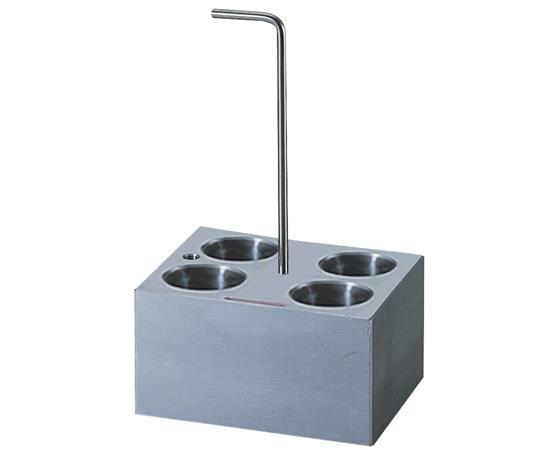 アズワン(AS ONE) アルミブロック No.12 φ30mm試験管 4本用(1-1189-12)