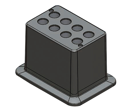 アズワン(AS ONE) ブロックバスシェーカー 15mL用ブロック(3-7036-15)