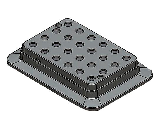 アズワン(AS ONE) ブロックバスシェーカー 0.5mL用ブロック(3-7036-11)