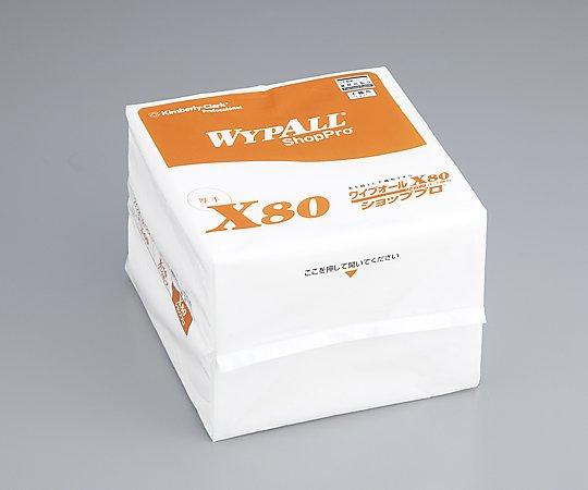 アズワン(AS ONE) ワイプオールX80 4つ折りタイプ 50枚×12袋(5-5643-31)