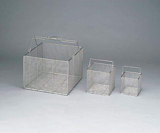 アズワン(AS ONE) ステンレス角型洗浄カゴ 特大 400×400×300mm(4-098-01)