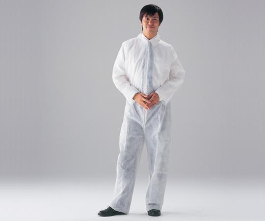 アズワン(AS ONE) ディスポ不織布製つなぎ服 CN401A-M 50枚入(1-7051-52)